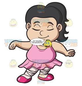 Clipart fat girl clipart transparent library A Fat Ballerina Girl clipart transparent library