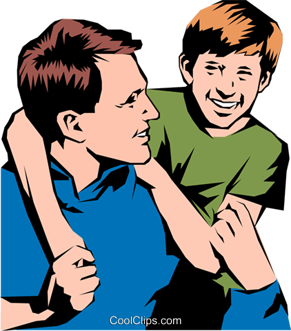 Clipart father and son banner free stock Father & son Royalty Free Vector Clip Art illustration -peop0836 ... banner free stock