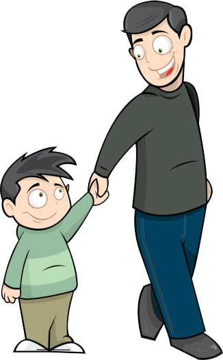Clipart father and son graphic black and white library Clip art father and son clipart images gallery for free download ... graphic black and white library