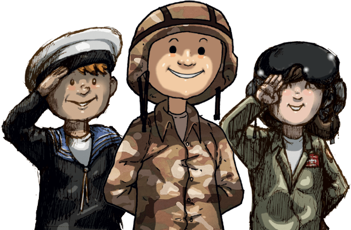 Clipart father and son seperating for army clipart download Home - Little Troopers clipart download