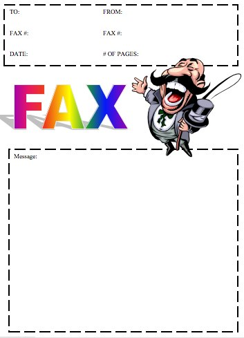 Clipart fax cover sheet image freeuse Clipart fax cover sheet - ClipartFest image freeuse