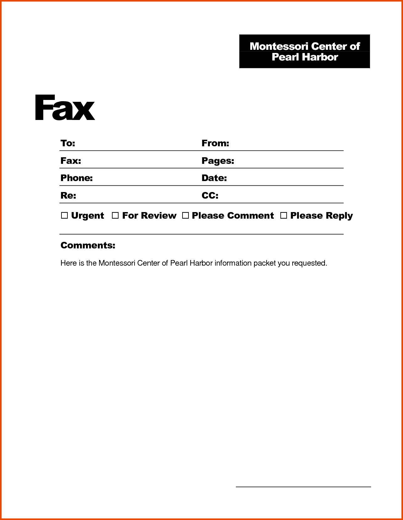 Clipart fax cover sheet. Sample to free templates