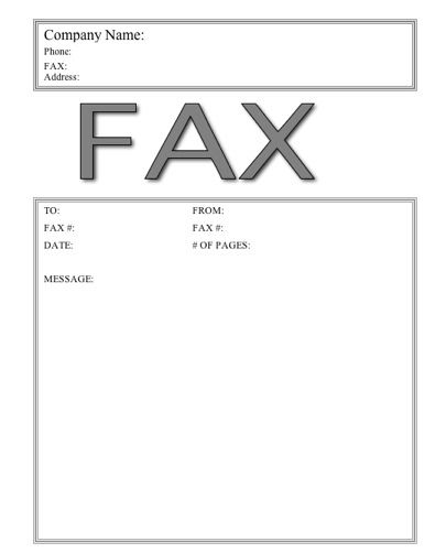 Clipart fax cover sheet graphic library stock This basic printable fax cover sheet has the word Fax in large ... graphic library stock