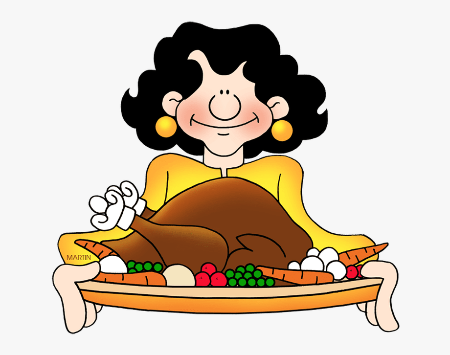 Clipart feast svg black and white library Food Clip Art By Phillip Martin, Turkey Feast - Thanksgiving Feast ... svg black and white library