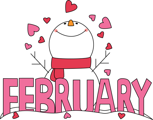 Clipart febru picture royalty free stock February Clip Art | Month of February Snowman Love Clip Art Image ... picture royalty free stock