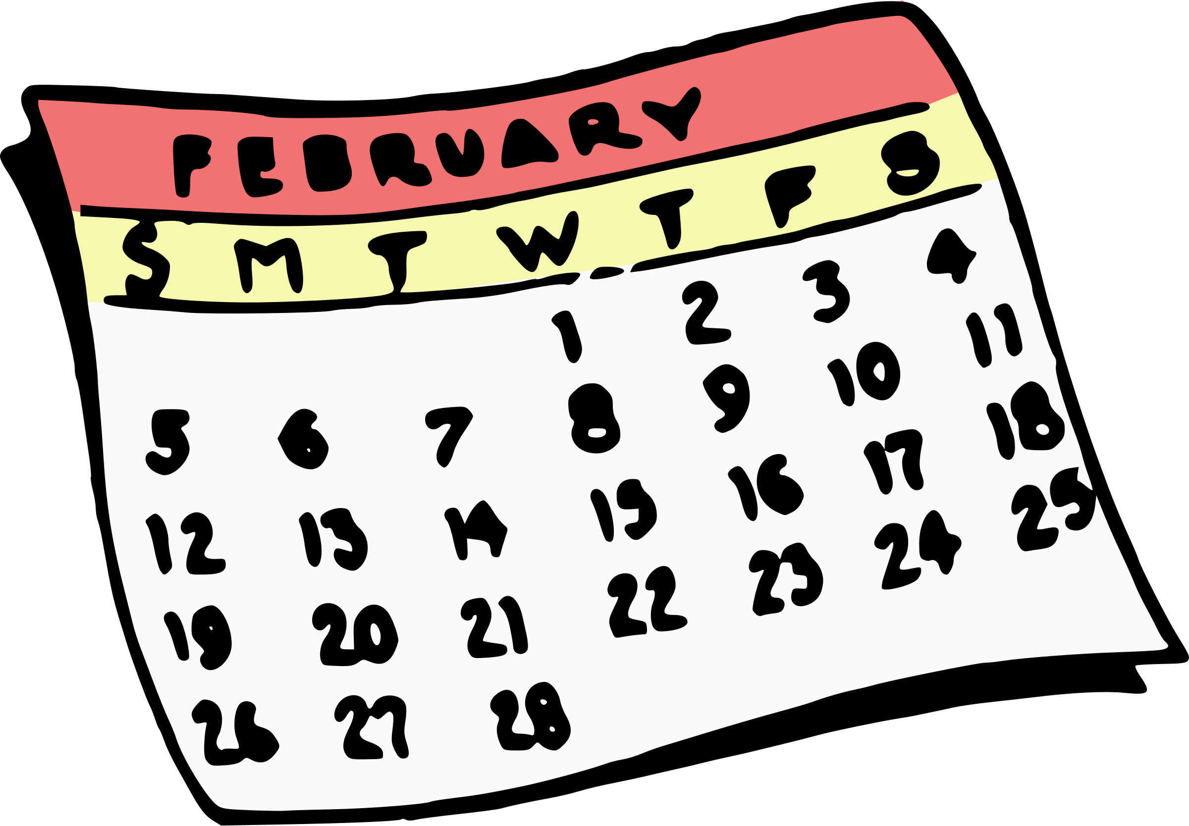 Clipart for february picture transparent download Clipart - February Calendar picture transparent download