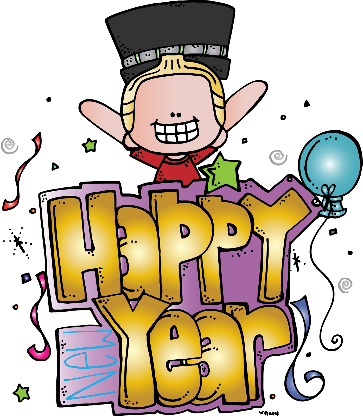 Have a great school year clipart banner transparent library Melonheadz Illustrating Happy New Year Freebie!!!! | Clipart ... banner transparent library
