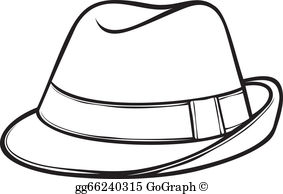 Trilby clipart vector black and white download Fedora Hat Clip Art - Royalty Free - GoGraph vector black and white download