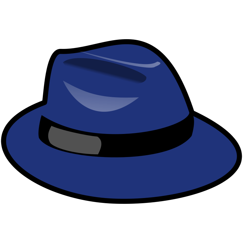 Clipart fedora hat clip transparent Free Clipart: Blue Fedora   JCSalomon clip transparent