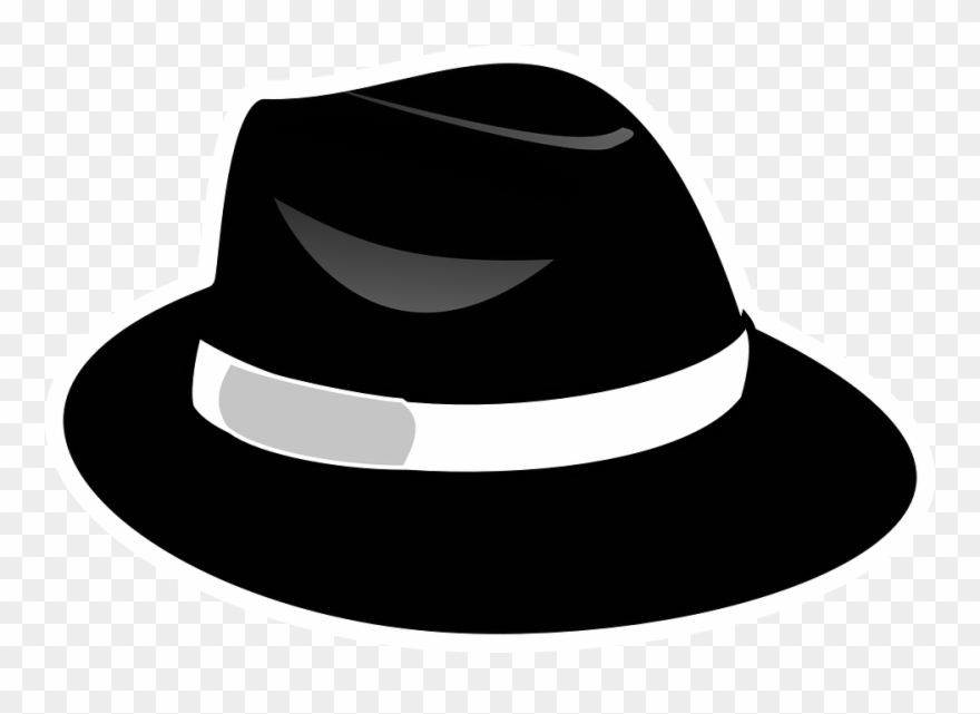 Clipart fedora hat jpg transparent download Black Fedora Clipart With Transparent Background - Png Download ... jpg transparent download