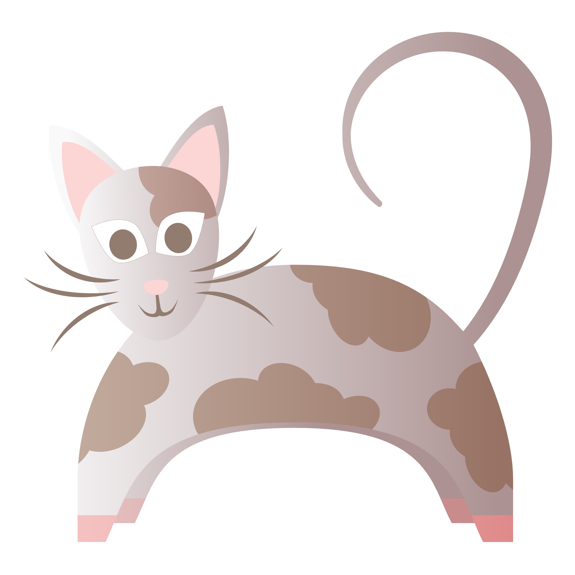 Clipart feed cat image free download clipartist.net » Clip Art » Abstract Cat Scalable Vector Graphics SVG image free download