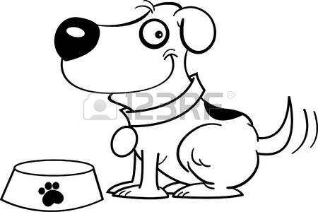 feeding stock illustrations. Clipart feed the dog