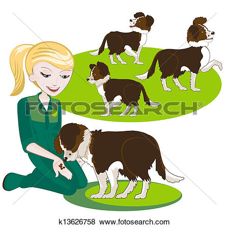 Clip art of two. Clipart feed the dog