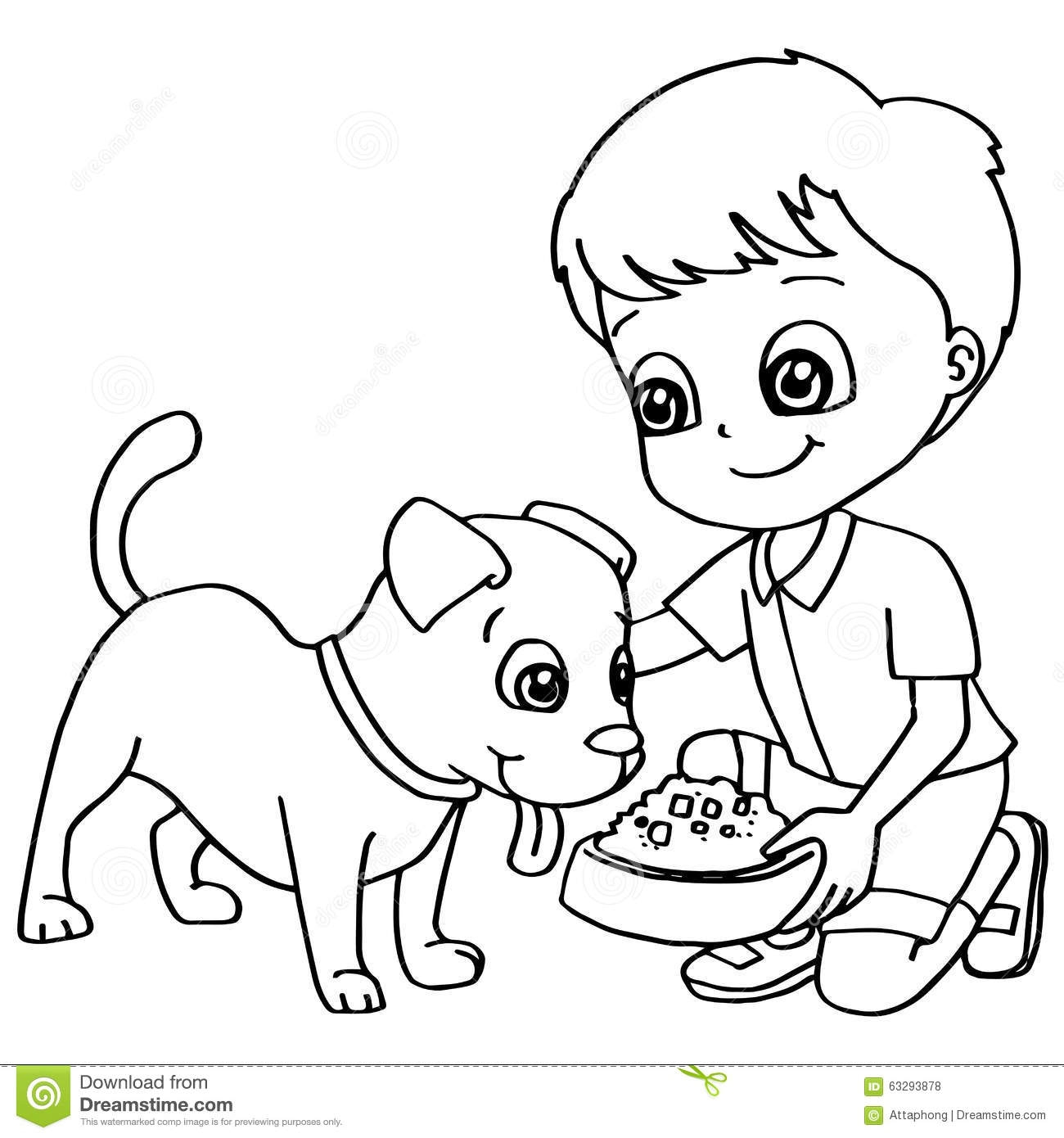Clipart feed the dog. Animal clipartfox coloring book