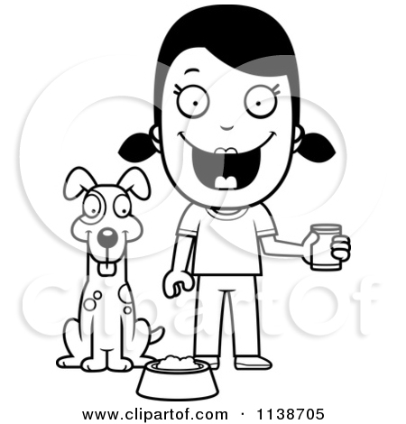 Royalty free rf feeding. Clipart feed the dog