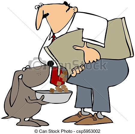 Clipart feed the dog. Clip art of feeding