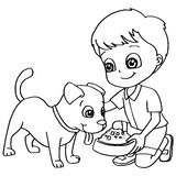 Clipart feeding the dog clip royalty free download Girl Feeding Dog Stock Illustrations – 41 Girl Feeding Dog Stock ... clip royalty free download