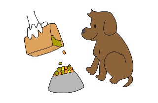 Clipart feeding the dog png black and white stock Feed the dog clipart - ClipartFest png black and white stock
