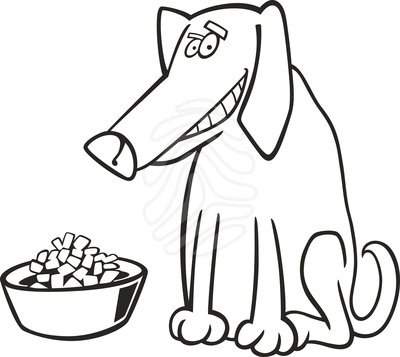 Clipart feeding the dog picture transparent download Dog cat feeding clipart - ClipartFest picture transparent download