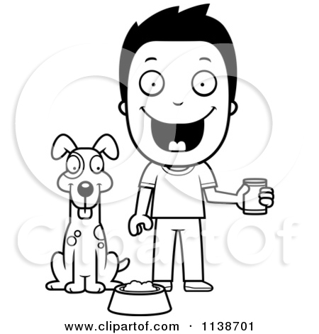 Clipart feeding the dog graphic royalty free Royalty-Free (RF) Feeding Dog Clipart, Illustrations, Vector ... graphic royalty free