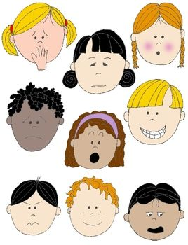 Free clipart emotion faces jpg transparent library Kids in Action: Faces 2 Clip Art 18 FREE pngs to Show Feelings and ... jpg transparent library