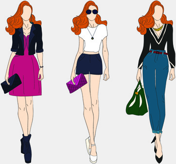 Clipart female models clipart black and white download Free clip art fashion model silhouette free vector download (220,736 ... clipart black and white download