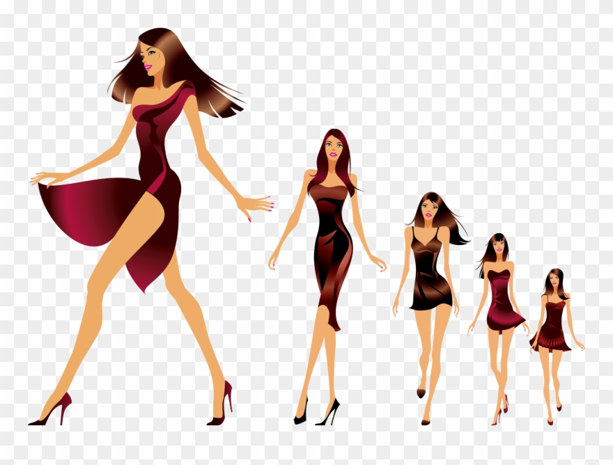 Clipart female models svg freeuse download Fashion Show Runway Model Clipart (#2325540) - PinClipart svg freeuse download
