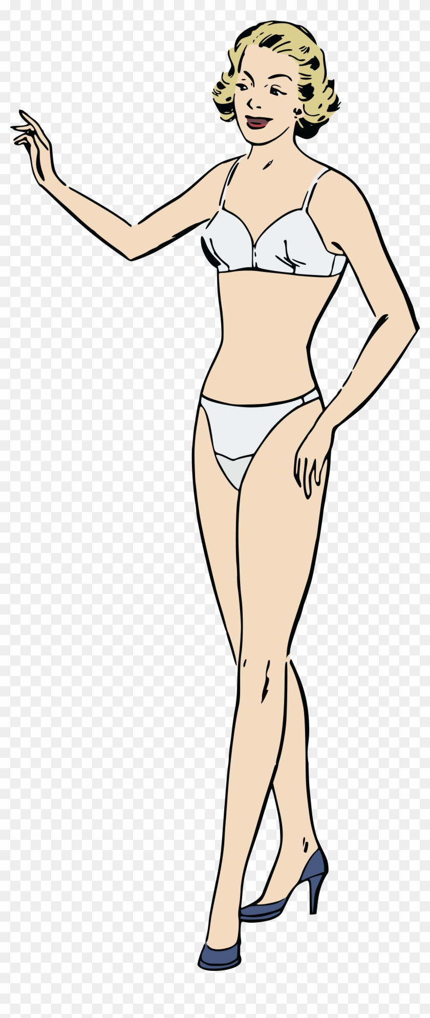Clipart female models png royalty free library Free Clipart Of A Retro Blond Female Model In Undergarments - Woman ... png royalty free library