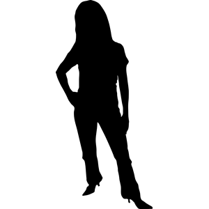 Silhouette clipart woman jpg download Female Silhouette Clipart | Free download best Female Silhouette ... jpg download