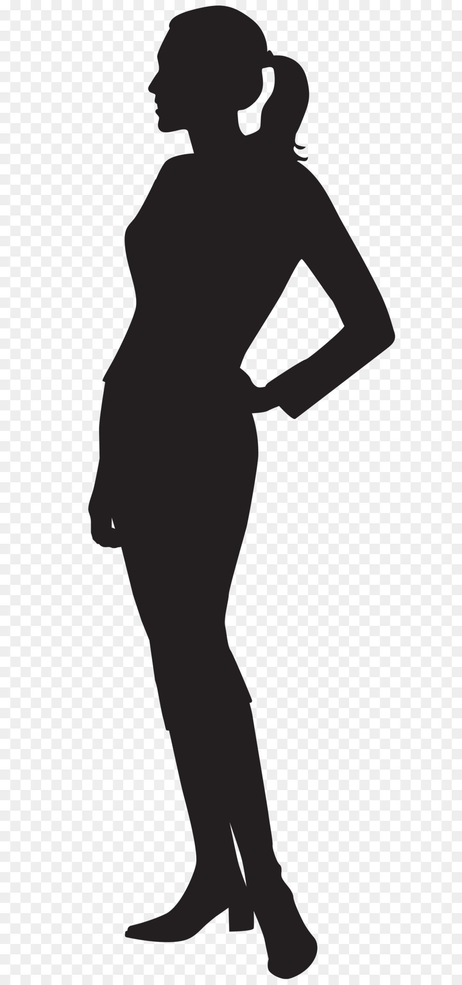 Clipart female silhouette vector black and white stock Woman Cartoon png download - 2716*8000 - Free Transparent Silhouette ... vector black and white stock