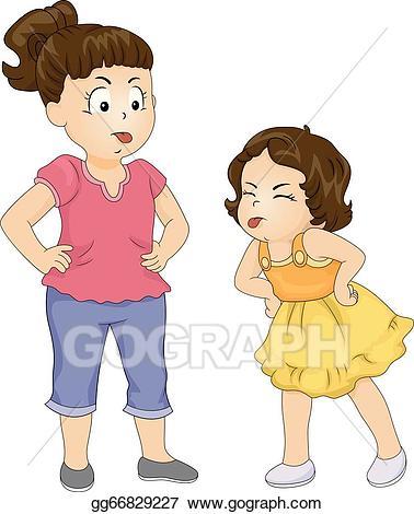 Clipart feud image freeuse EPS Illustration - Sibling feud. Vector Clipart gg66829227 - GoGraph image freeuse