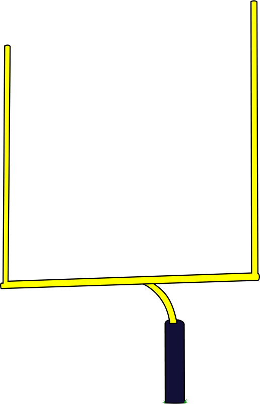 Clipart football goal post graphic free stock Football Goal Posts Clipart graphic free stock