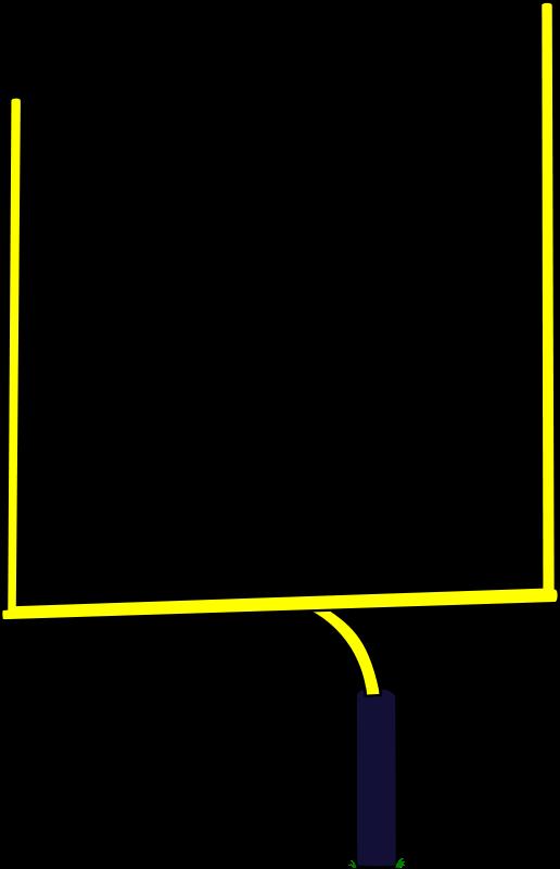 Clipart field post football