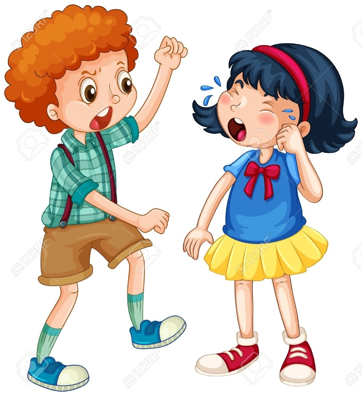 Clipart fighting videos image free library Girl And Boy Fighting Clipart | Writings and Essays Corner image free library