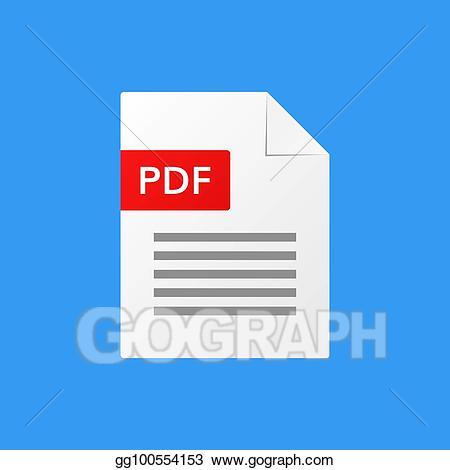 Clipart file format pdf image transparent stock Vector Illustration - Pdf document vector illustration pdf file ... image transparent stock