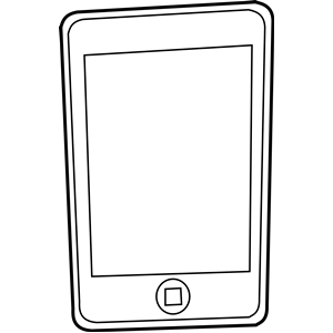 Free iphone clipart picture black and white stock Free Iphone Cliparts, Download Free Clip Art, Free Clip Art on ... picture black and white stock
