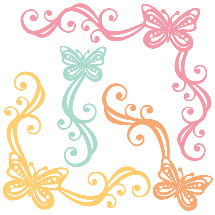 Clipart files for cricut svg free library Butterfly Flourishes SVG scrapbook cut file cute clipart files for ... svg free library