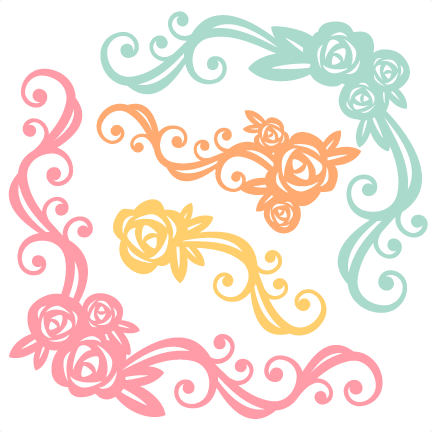 Clipart files for cricut png royalty free download Flower Flourishes SVG scrapbook cut file cute clipart files for ... png royalty free download