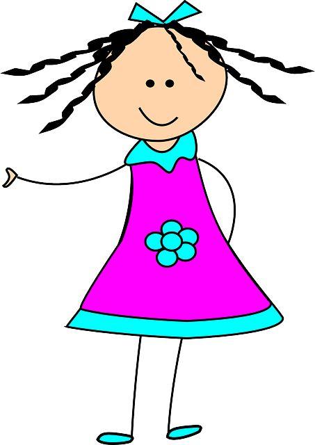 Clipart fille image freeuse library Image gratuite sur Pixabay - Jeune Fille, Enfant, Heureux, Robe ... image freeuse library