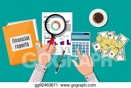 Financial report clipart jpg library EPS Illustration - Financial report concept. business background ... jpg library