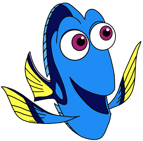 Finding dory clipart free vector freeuse Finding Dory Clip Art | Disney Clip Art Galore vector freeuse
