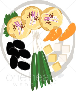 Clipart finger food picture freeuse stock Appetizer Tray Clipart | Wedding Food Clipart picture freeuse stock
