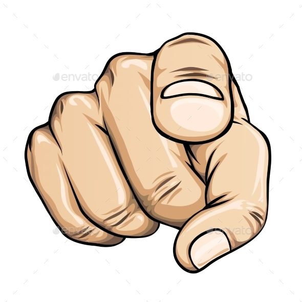 Clipart finger pointing at you clipart black and white Clipart finger pointing at you 2 » Clipart Station clipart black and white
