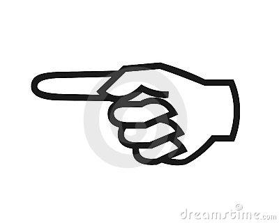 Kid clip art image. Clipart finger pointing left