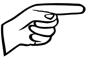 Right clipartfest. Clipart finger pointing left