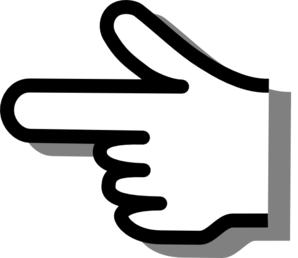 Clipart finger pointing left. Best