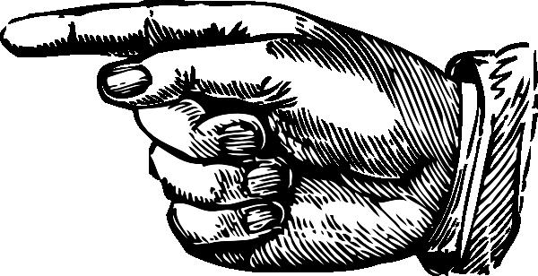 Clipart finger pointing left. Kid point clip art