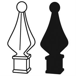 Clipart finneals picture royalty free stock Quad Finial 5/8\