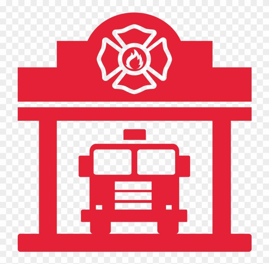 Clipart fire department png transparent stock Fireman Station Icon - Fire Department Clipart (#4885869) - PinClipart png transparent stock