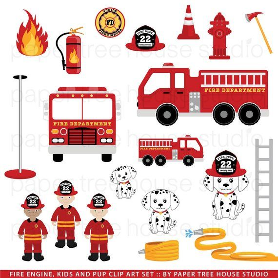 Clipart fire department graphic royalty free library Fire Truck Clip Art. Firefighters. Fire Station Clip Art. Fire ... graphic royalty free library